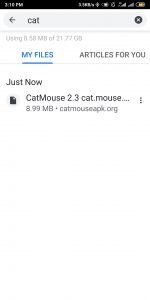 Catmouse apk install screenshot 1